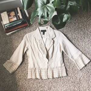 NWT Gretty Zueger Lace Detailed Blazer Jacket! 👒